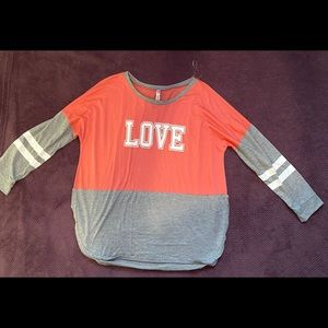 "Pink & Gray ""LOVE"" Sweater"